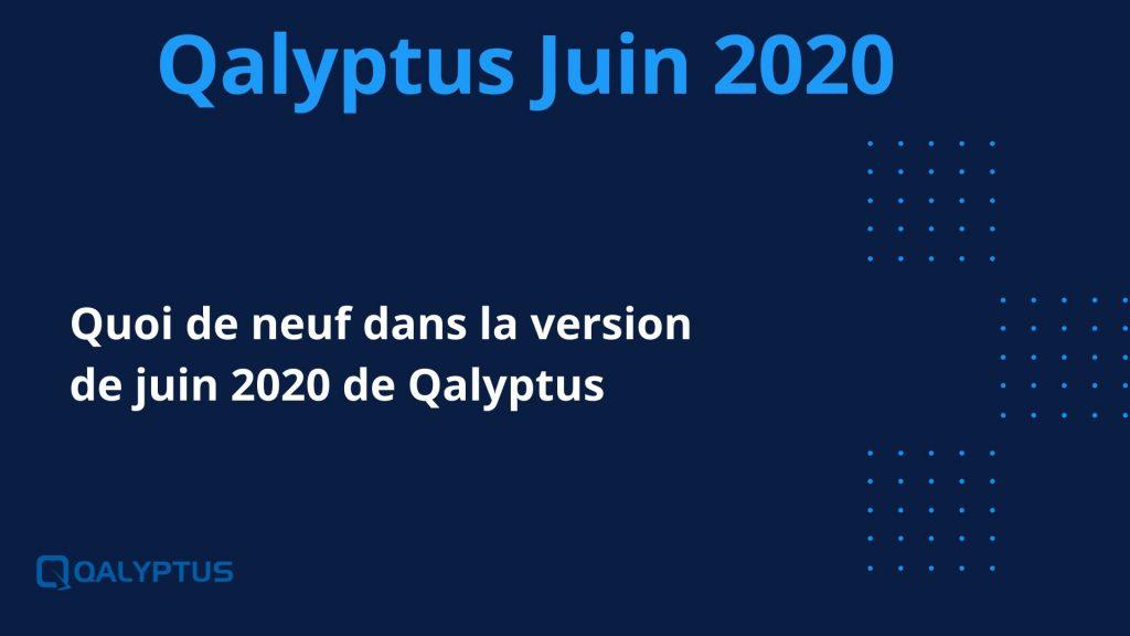 Quoi de neuf dans la version de juin 2020 de Qalyptus