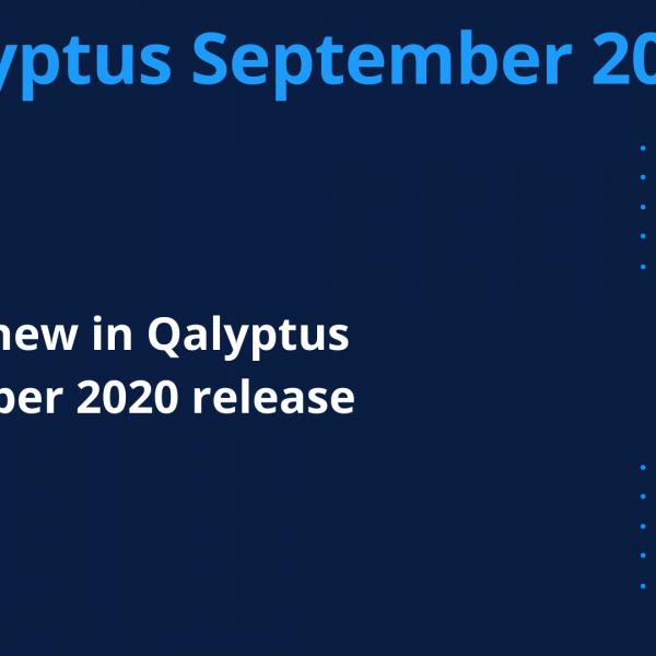 Qalyptus September 2020 release