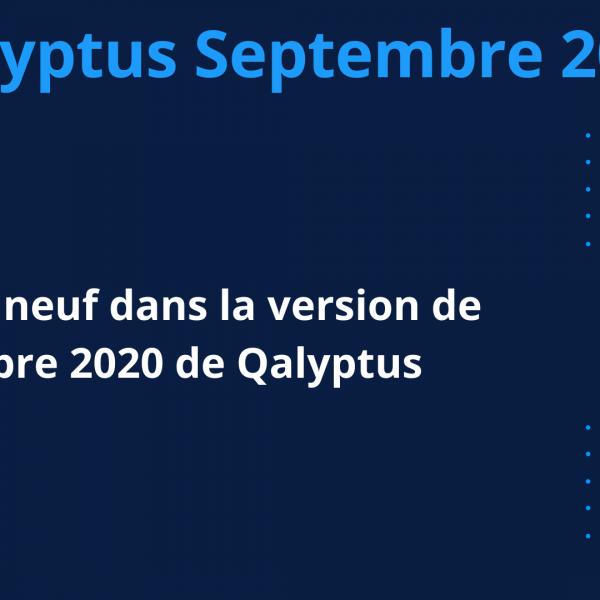 Qalyptus version Septembre 2020